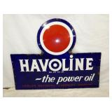 36X46 PORC. HAVOLINE/INDIAN GAS SIGN