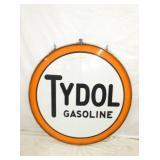 48IN PORC. TYDOL GASOLINE W/ FRAME