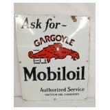 20X24 PORC. MOBILOIL GARGOYLE SIGN