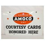 15X24 PORC. AMOCO CARDS SIGN