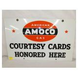 VIEW 2 OTHERSIDE PORC. AMOCO CARD SIGN