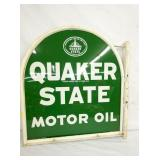 28X30 QUAKER STATEA MOTOR OIL POLE SIGN