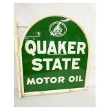 VIEW 2 OTHERSIDE QUAKER STATE POLE SIGN W/ FRAME