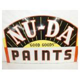 22 1/2X36 PORC. NU-DA PAINTS SIGN