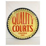 1956 36IN QUALITY COURTS REFLECTIVE SIGN