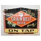 34X48 PORC. GRAIN BELT BEER SIGN