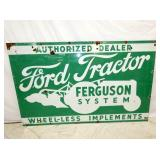 40X64 PORC. FORD TRACTOR/FERGUSON SIGN