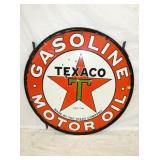 42IN PORC. TEXACO MOTOR OIL SIGN