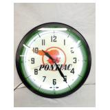 20IN PONTIAC NEON CLOCK