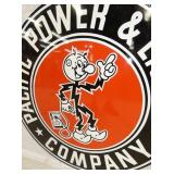 VIEW 3 CLOSEUP RARE REDDY KILOWATT SIGN