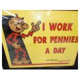 VIEW 2 CLOSEUP NOS REDDY KILOWATT CARDBOARD