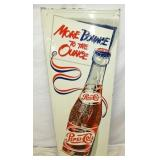 18X48 EMB. PEPSI COLA BANNER BOTTLE SIGN