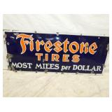 20X48 PORC. FIRESTONE TIRES SIGN