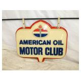 20X24 AMERICAN OIL MOTOR CLUB PLASTIC SIGN