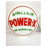SINCLAIR POWER X MILK GLASS GLOBE