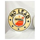 NO LEAD IMPERIAL MILK GLASS WIDE BODY