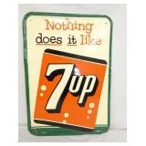 13X18 1956 EMB. 7UP SIGN