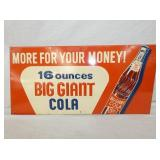 12X23 EMB. BIG GIANT COLA SIGN