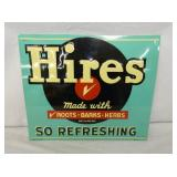 12X14 EMB. HIRES ROOT BEER SIGN
