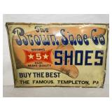 13X20 EMB. BROWN SHOE CO. SIGN