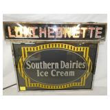 UNUSUAL 16X19 LIGHTED SOUTHERN DAIRIES SIGN