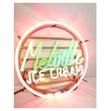 RARE ORIG. 18IN MELVILLE ICE CREAM NEON