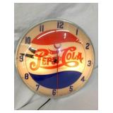 15IN PEPSI COLA DOUBLE DOT BUBBLE CLOCK