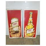 34X70 MILLER HIGH LIFE FRAMED SIGNS SUN.