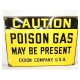 20X28 PORC. EXXON POISON GAS SIGN