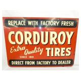 VIEW 2 OTHER SIDE CORDUROY TIRE SIGN
