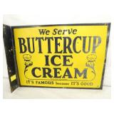 13X18 BUTTERCUP ICE CREAM FLANGE SIGN