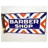 12X24 PORC. BARBER SHOP FLANGE SIGN