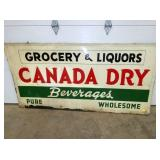 38X68 EMB. CANADA DRY SIGN SUN.