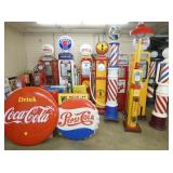 GROUP PHOTO AIR METERS/BARBER POLES/GAS PUMPS/SIGNS