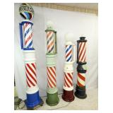 GROUP PHOTO PORC. CANDY CANE BARBER POLES