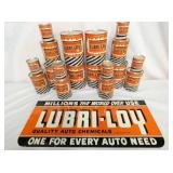 NOS LUBRI-LOY SIGN & NOS CANS