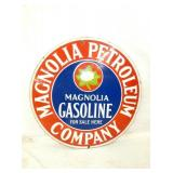 30IN. PORC. MAGNOLIA GASOLINE SIGN