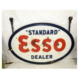 40X60 PORC. PORC. ESSO DEALER SIGN W/FRAME