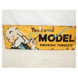 12X36 PORC. MODEL SMOKING TOBACCO SIGN