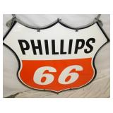 VIEW 3 CLOSE UP NOS PHILLIPS 66 SHIELD SIGN