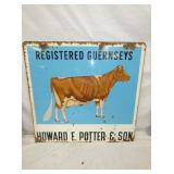 VIEW 2 OTHER SIDE GUERNSEY COW SIGN