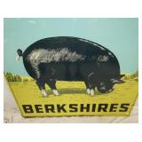 VIEW 2 CLOSE UP BERKSHIRES PIG SIGN
