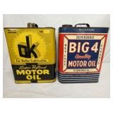 2G. OK, BIG 4 MOTOR OIL CANS