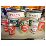 NOS TEXACO TINS AND CANS