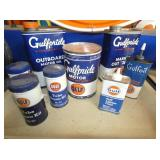 VARIOUS GULF ADV. TINS AND CANS