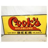 44X96 EMB. COOKS BEER SIGN