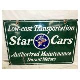 28X42 PORC. STAR CARS DEALER SIGN