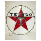 33IN STAINED GLASS TEXACO SIGN