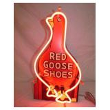 13X24 RED GOOSE NEON W/ REPLICA SIGN