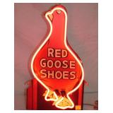 VIEW 2 CLOSEUP RED GOOSE REPLICA SIGN